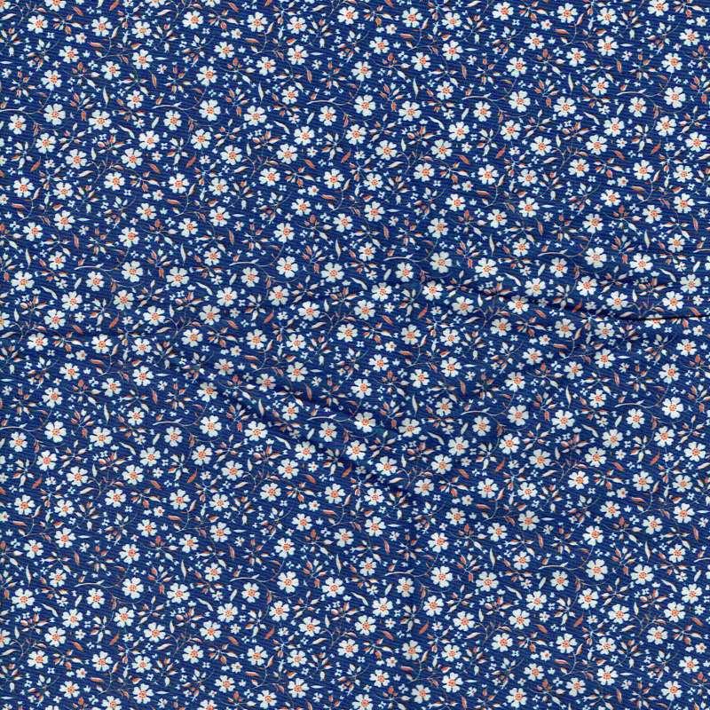 Coupon Popeline Coton Impression Digitale Fleurs
