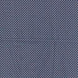 Coupon Popeline Coton Impression Digitale Géométrique ton Bleu
