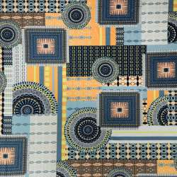 tissus jersey Cristal imprimé motif géométrique