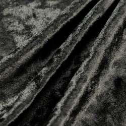 Coupon tissus Velours Élasthanne noir