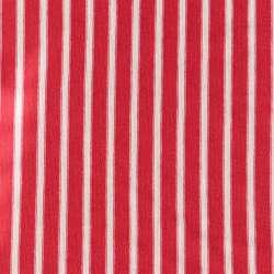 tissus viscose imprimé marinière rouge