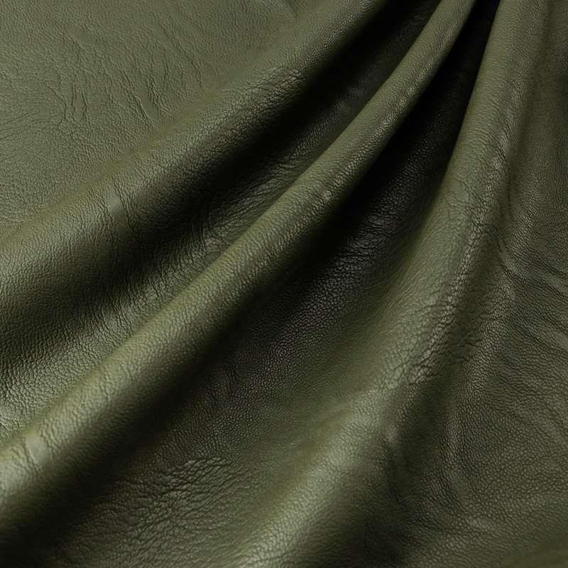 simili cuir polyester élasthanne couleur kaki