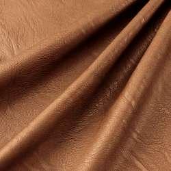 simili cuir polyester élasthanne couleur marron
