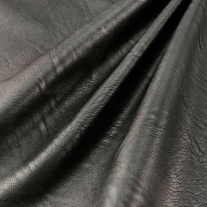 Tissu simili cuir uni rouge