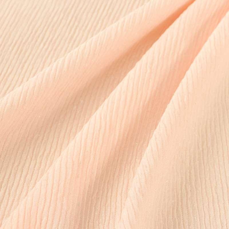 Maille torsadé Uni Couleur rose froissé
