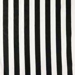 Jersey léger Mélange viscose Rayures noir et blanc