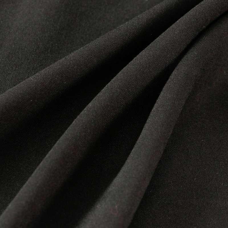 Pashmina uni couleur noir
