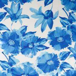 tissu jersey maillot motif fleurs