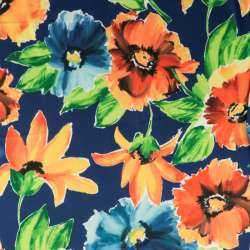 tissu jersey maillot motif grandes fleurs