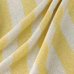 Jersey Viscose rayures larges jaune Et Blanc