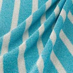 Jersey Viscose rayures larges bleu Et Blanc