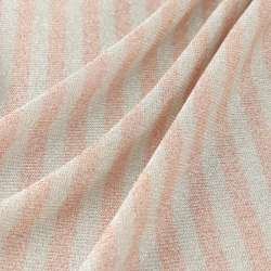 Jersey Viscose Petites rayures nude et blanc