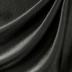 Coupon Tissu Bisou Laqué Noir