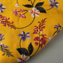 Tissu Viscose Floral