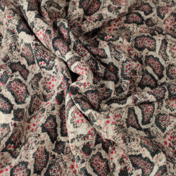 Tissus Viscose Imprimé motifs Léopard