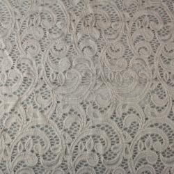 Tissu dentelle grise