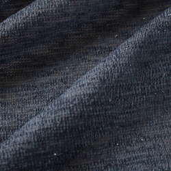 Coupon Tissu Acrylique Lurex bleu