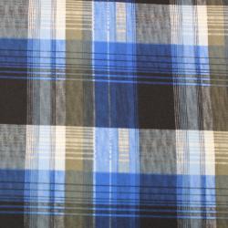 Microfibre Motif Carreaux Bleu Roi