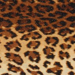 Bisou Bisou Fond Marron Motifs léopard