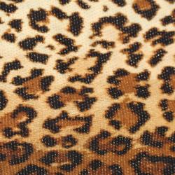 Coupon Bisou Bisou Fond Marron Motifs léopard