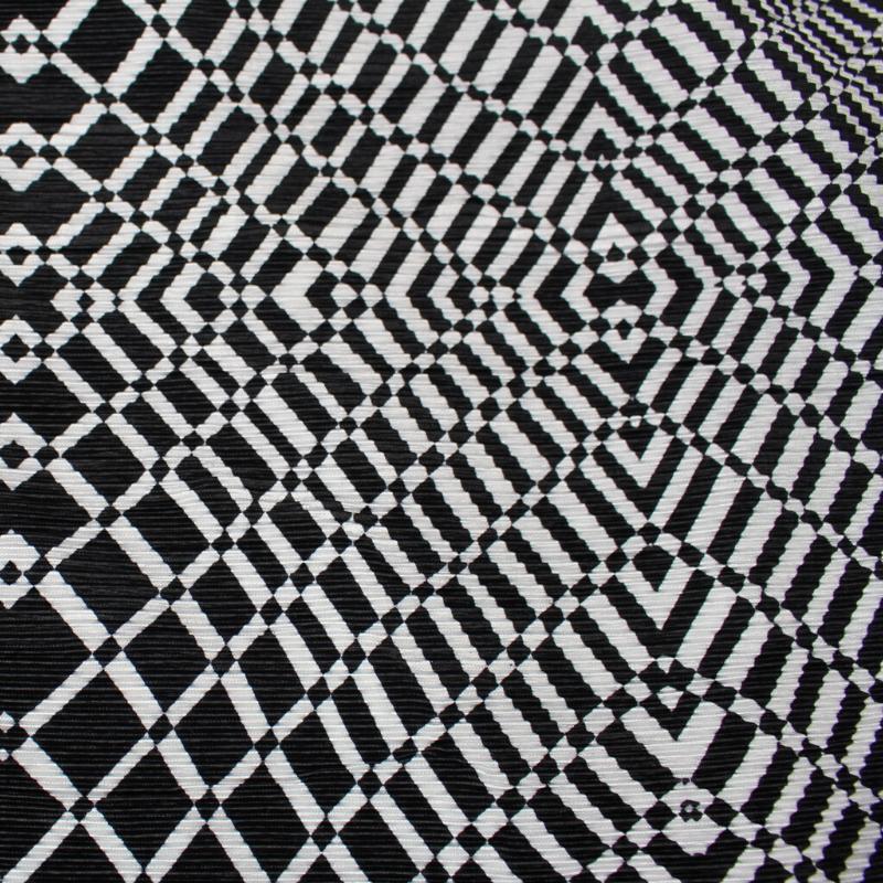 Tissus Plissé Imprimé Motif Géométrique