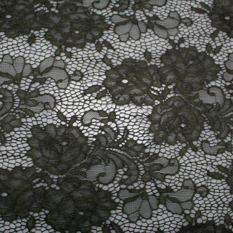 Tissu dentelle Fleurie