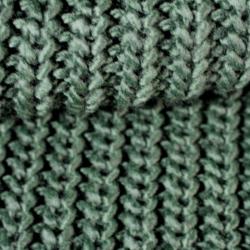 Coupon Tissu Maille Effet Tricoté ANNA Couleur vert