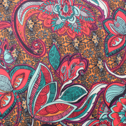 SCUBA Crêpe Léger motif fleuris