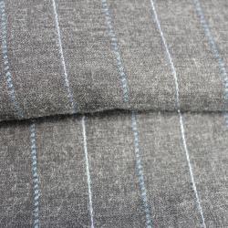 flanelle couleur gris à fines rayures lurex