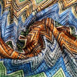 Tissu Oslo multicolore imprimé géométrique