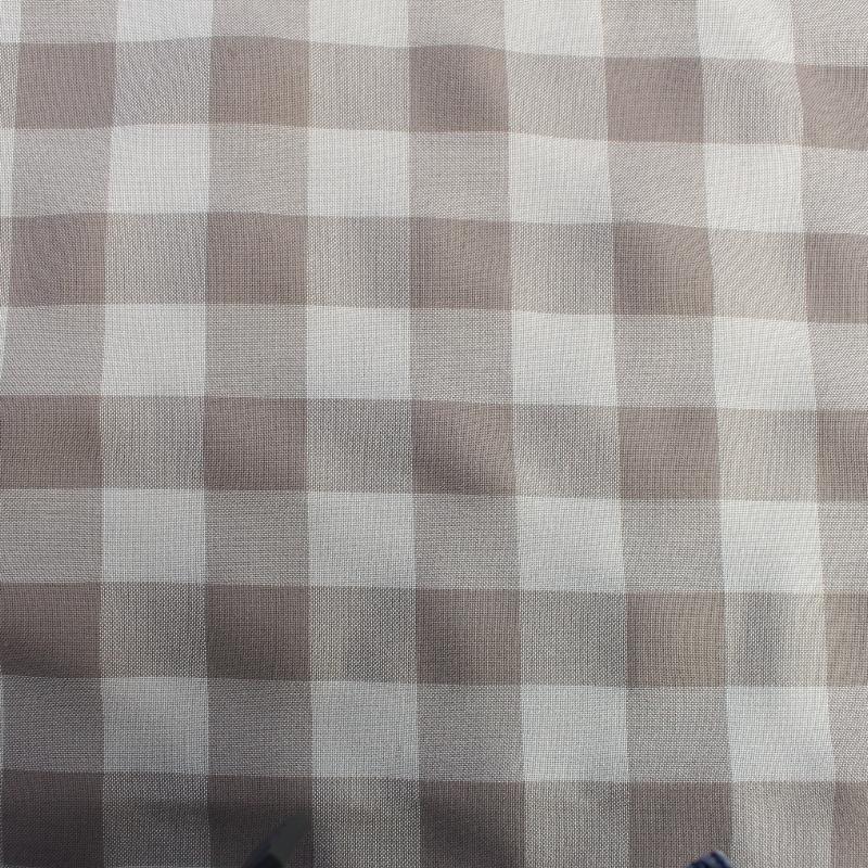 Coupon Tissu De Décoration Carreaux Beige