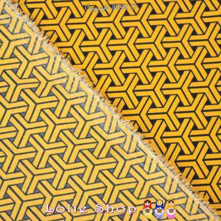 Microfibre Imprimé Motifs Graphiques Ambre Et Noir