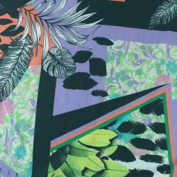 Tissus Jersey Polyester Motif feuilles