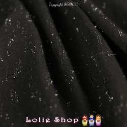 Jersey Couleur Noir Chiné Lurex