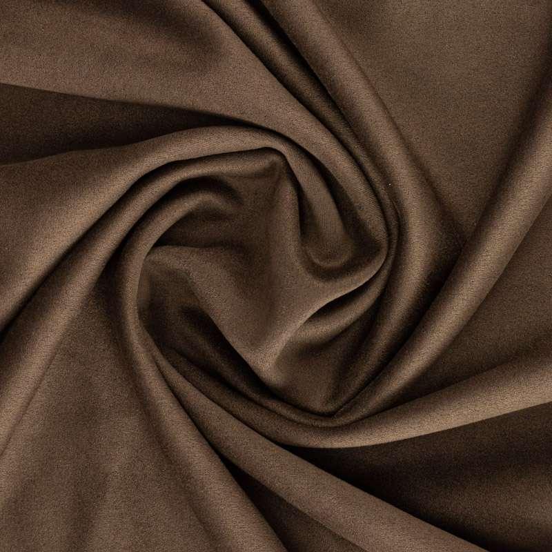 Scuba daim uni couleur Marron Chocolat