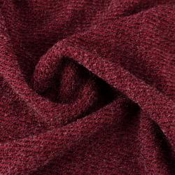 Tissu éponge côtelé bordeaux