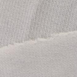 magnifique tissu  éponge côtelé couleur blanc