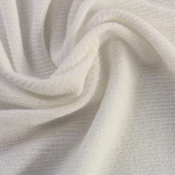 Tissu éponge côtelé couleur blanc