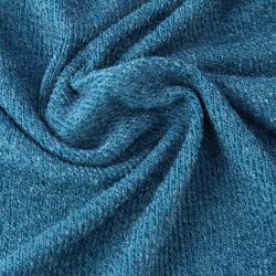 Tissu éponge côtelé couleur bleu