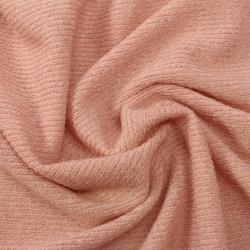 Tissu éponge côtelé couleur nude