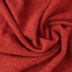 Tissu éponge côtelé couleur rouille