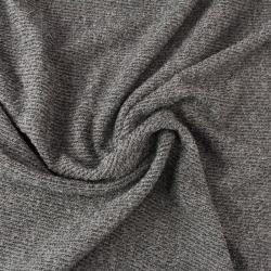 Tissu éponge côtelé couleur gris pour robes jupes