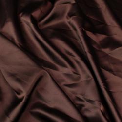 Doublure satin polyester marron chocolat