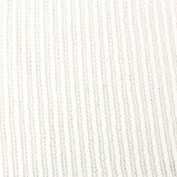 Tissu Tricot Maille Chenille Blanc