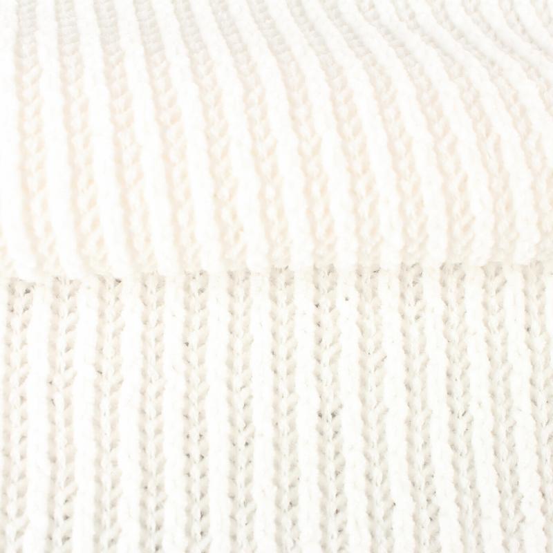 Tissu Maille Chenille Blanc
