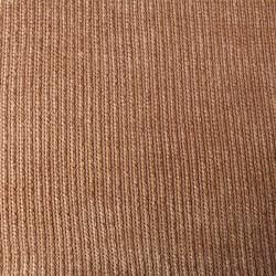 Tissu Tricot Maille Chenille Taupe