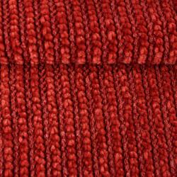 Tissu Tricot Maille Chenille Brique