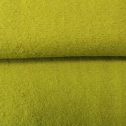 tissus Lainage Bouclette Léger Vert Olive Clair