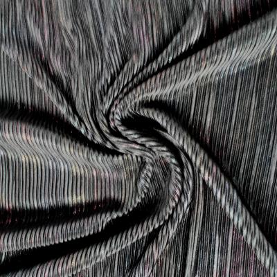 Tissus Plissé noir lurex