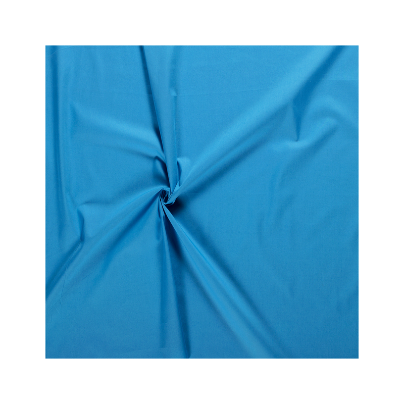 Tissus Popeline de Coton Couleur Aqua